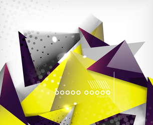 Geometric shapes abstract backgroundのイラスト素材 [FYI03097504]