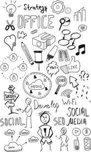 Black isolated web doodles setのイラスト素材 [FYI03097509]
