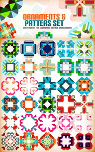 Abstract geometric vintage retro shapes for background creation. Creation kitのイラスト素材 [FYI03097514]