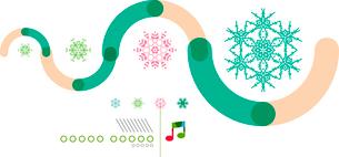 Christmas geometric shape minimal snowflake abstract designのイラスト素材 [FYI03097522]