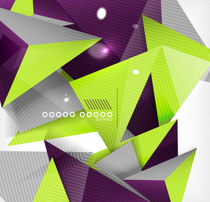 Abstract geometric shape background. For business / technology / educationのイラスト素材 [FYI03097526]