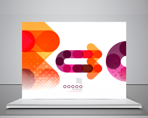Arrow background abstract geometric design templateのイラスト素材 [FYI03097531]