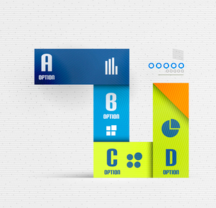 Stripes option select infographic design template for business, technology, presentation, layout temのイラスト素材 [FYI03097559]