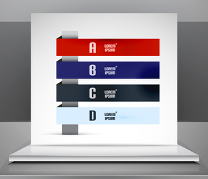Modern vector business stripes infographic design for templates, technology, presentation, banner, lのイラスト素材 [FYI03097560]
