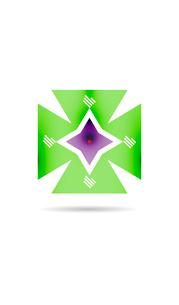 Retro vintage geometric shape infographicのイラスト素材 [FYI03097563]