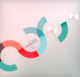 Geometric shapes circles modern background for infographics | business background | numbered bannersのイラスト素材 [FYI03097575]