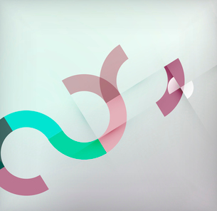 Geometric shapes circles modern background for infographics | business background | numbered bannersのイラスト素材 [FYI03097577]