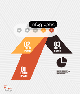 Geometric infographic stripes flat design for business background   banners   business presentationのイラスト素材 [FYI03097580]