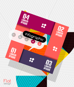 Geometric infographic stripes flat design for business background   banners   business presentationのイラスト素材 [FYI03097581]