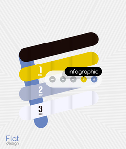 Geometric infographic stripes flat design for business background   banners   business presentationのイラスト素材 [FYI03097582]
