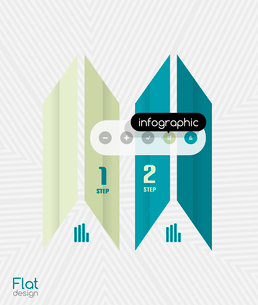 Geometric infographic stripes flat design for business background   banners   business presentationのイラスト素材 [FYI03097583]