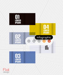 Geometric infographic stripes flat design for business background   banners   business presentationのイラスト素材 [FYI03097584]