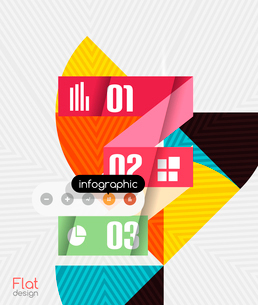 Geometric infographic stripes flat design for business background   banners   business presentationのイラスト素材 [FYI03097585]