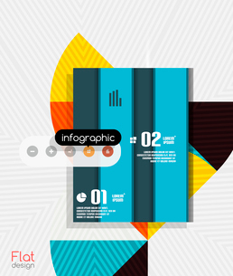 Geometric infographic stripes flat design for business background   banners   business presentationのイラスト素材 [FYI03097589]