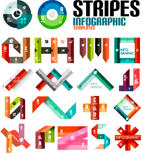 Ribbon infographic design template set. For banners, business backgrounds, presenationsのイラスト素材 [FYI03097611]