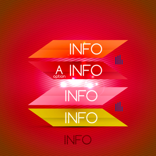 Color bright glossy lines - banner templates for business background | numbered banners | business lのイラスト素材 [FYI03097642]