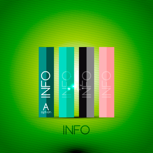Color bright glossy lines - banner templates for business background | numbered banners | business lのイラスト素材 [FYI03097644]