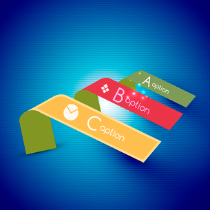 Color bright glossy lines - banner templates for business background | numbered banners | business lのイラスト素材 [FYI03097646]