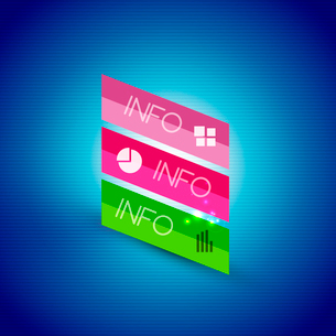 Color bright glossy lines - banner templates for business background | numbered banners | business lのイラスト素材 [FYI03097650]
