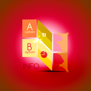 Color bright glossy lines - banner templates for business background | numbered banners | business lのイラスト素材 [FYI03097651]