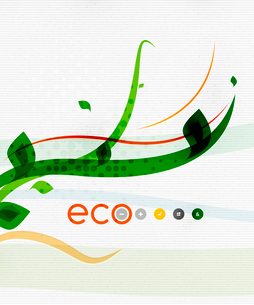 Green eco nature minimal floral concept | flying leaves | nature flying leaves templateのイラスト素材 [FYI03097654]
