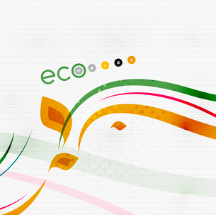 Green eco nature minimal floral concept | flying leaves | nature flying leaves templateのイラスト素材 [FYI03097657]