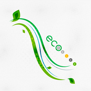 Green eco nature minimal floral concept | flying leaves | nature flying leaves templateのイラスト素材 [FYI03097658]