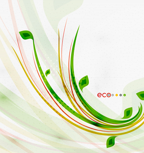 Green eco nature minimal floral concept | flying leaves | nature flying leaves templateのイラスト素材 [FYI03097659]