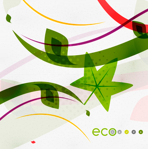 Green eco nature minimal floral concept | flying leaves | nature flying leaves templateのイラスト素材 [FYI03097660]