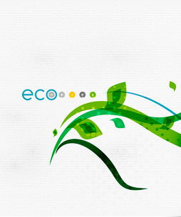 Green eco nature minimal floral concept | flying leaves | nature flying leaves templateのイラスト素材 [FYI03097661]