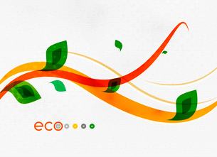 Green eco nature minimal floral concept | flying leaves | nature flying leaves templateのイラスト素材 [FYI03097662]