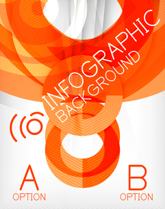 Infographic abstract background made of geometric shapesのイラスト素材 [FYI03097800]