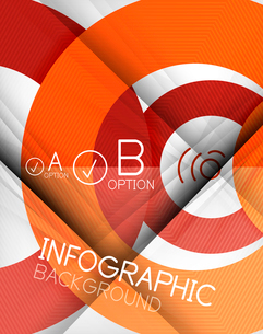 Infographic abstract background made of geometric shapesのイラスト素材 [FYI03097802]