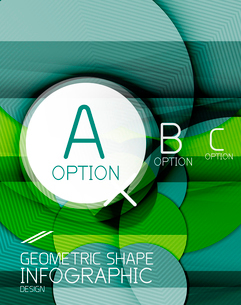 Glossy circle geometric shape info graphic background. For business presentation | technology | webのイラスト素材 [FYI03097845]