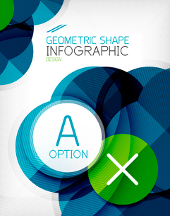 Glossy circle geometric shape info graphic background. For business presentation | technology | webのイラスト素材 [FYI03097852]