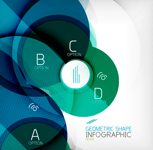 Glossy circle geometric shape info graphic background. For business presentation | technology | webのイラスト素材 [FYI03097853]