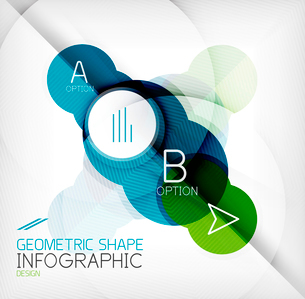Glossy circle geometric shape info graphic background. For business presentation | technology | webのイラスト素材 [FYI03097861]