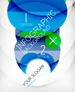 Glossy circle geometric shape info graphic background. For business presentation | technology | webのイラスト素材 [FYI03097863]