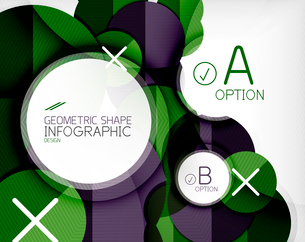 Glossy circle geometric shape info graphic background. For business presentation | technology | webのイラスト素材 [FYI03097866]
