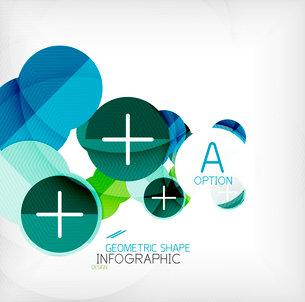 Glossy circle geometric shape info graphic background. For business presentation | technology | webのイラスト素材 [FYI03097869]