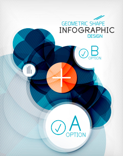 Glossy circle geometric shape info graphic background. For business presentation | technology | webのイラスト素材 [FYI03097871]