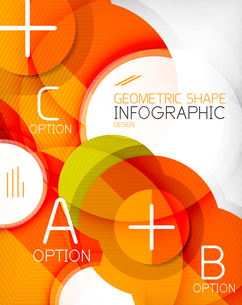 Glossy circle geometric shape info graphic background. For business presentation | technology | webのイラスト素材 [FYI03097873]