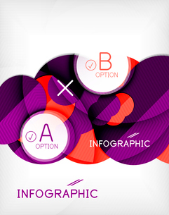Glossy circle geometric shape info graphic background. For business presentation | technology | webのイラスト素材 [FYI03097874]