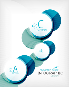 Glossy circle geometric shape info graphic background. For business presentation | technology | webのイラスト素材 [FYI03097877]