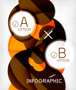 Glossy circle geometric shape info graphic background. For business presentation | technology | webのイラスト素材 [FYI03097878]