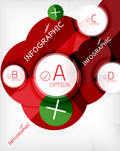 Glossy circle geometric shape info graphic background. For business presentation | technology | webのイラスト素材 [FYI03097879]