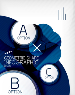 Glossy circle geometric shape info graphic background. For business presentation | technology | webのイラスト素材 [FYI03097881]