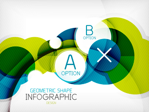 Glossy circle geometric shape info graphic background. For business presentation | technology | webのイラスト素材 [FYI03097882]