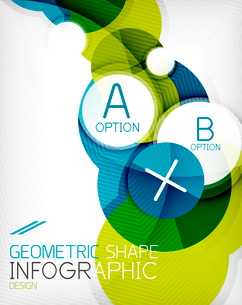 Glossy circle geometric shape info graphic background. For business presentation | technology | webのイラスト素材 [FYI03097885]