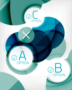 Glossy circle geometric shape info graphic background. For business presentation | technology | webのイラスト素材 [FYI03097887]